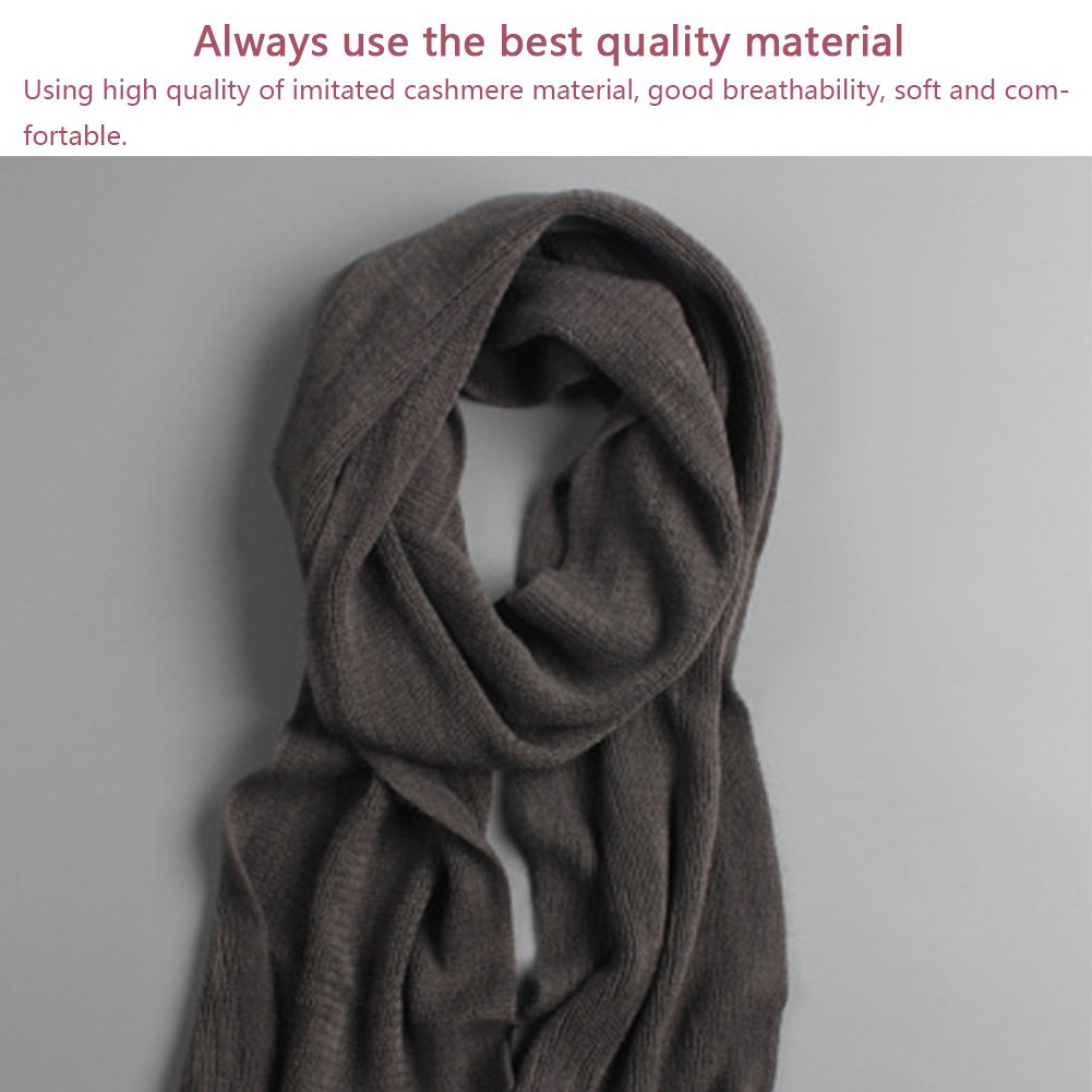 Men's Scarf, Autumn Winter Imitated Cashmere Scarf, Warm Muffler Neckerchief for Men Boys