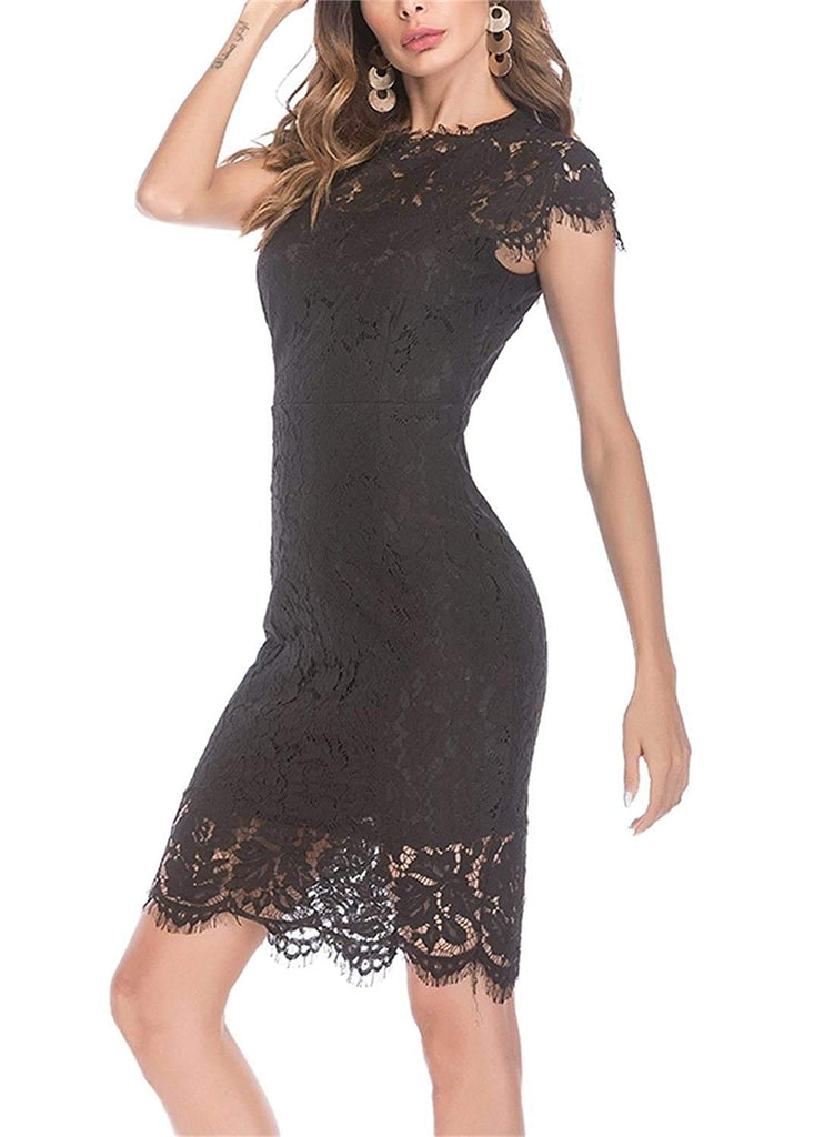 Sleeveless Floral Lace Slim Evening Cocktail Mini Dress for Party DM261