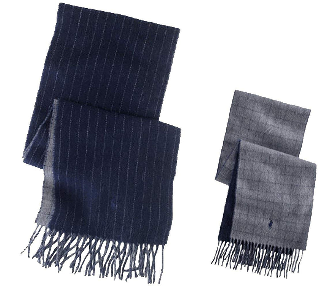 Ralph Lauren Signature Fringed Wool Men's Scarf One Size