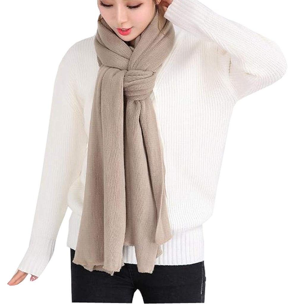 Agio Women's Warm Long Shawl Winter Warm Large Scarf Pure Color