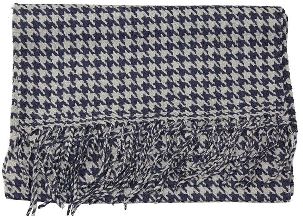 Houndstooth Check Classic Cashmere Feel Men's Winter Scarf