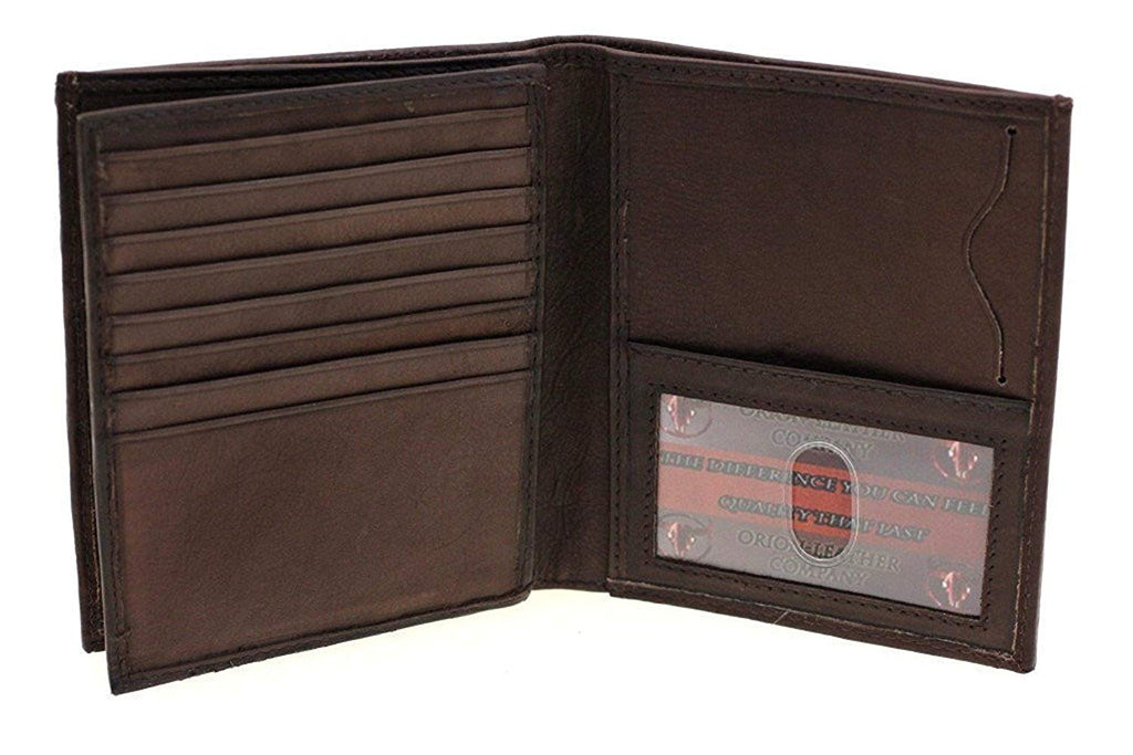 & Taylor Men's Leather Hipster Center Flap Bifold Wallet - Multiple Colors!