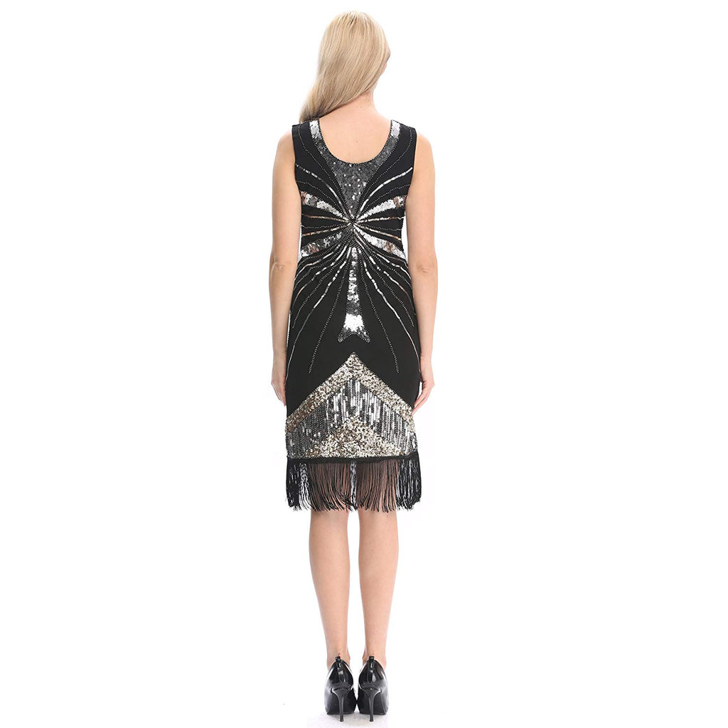 Women's 1920's Dress Flapper Vintage Great Gatsby Charleston Party Dress