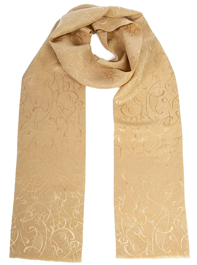 Men's Italian Pure Silk Aviator Opera Scarf, Handmade in Italy