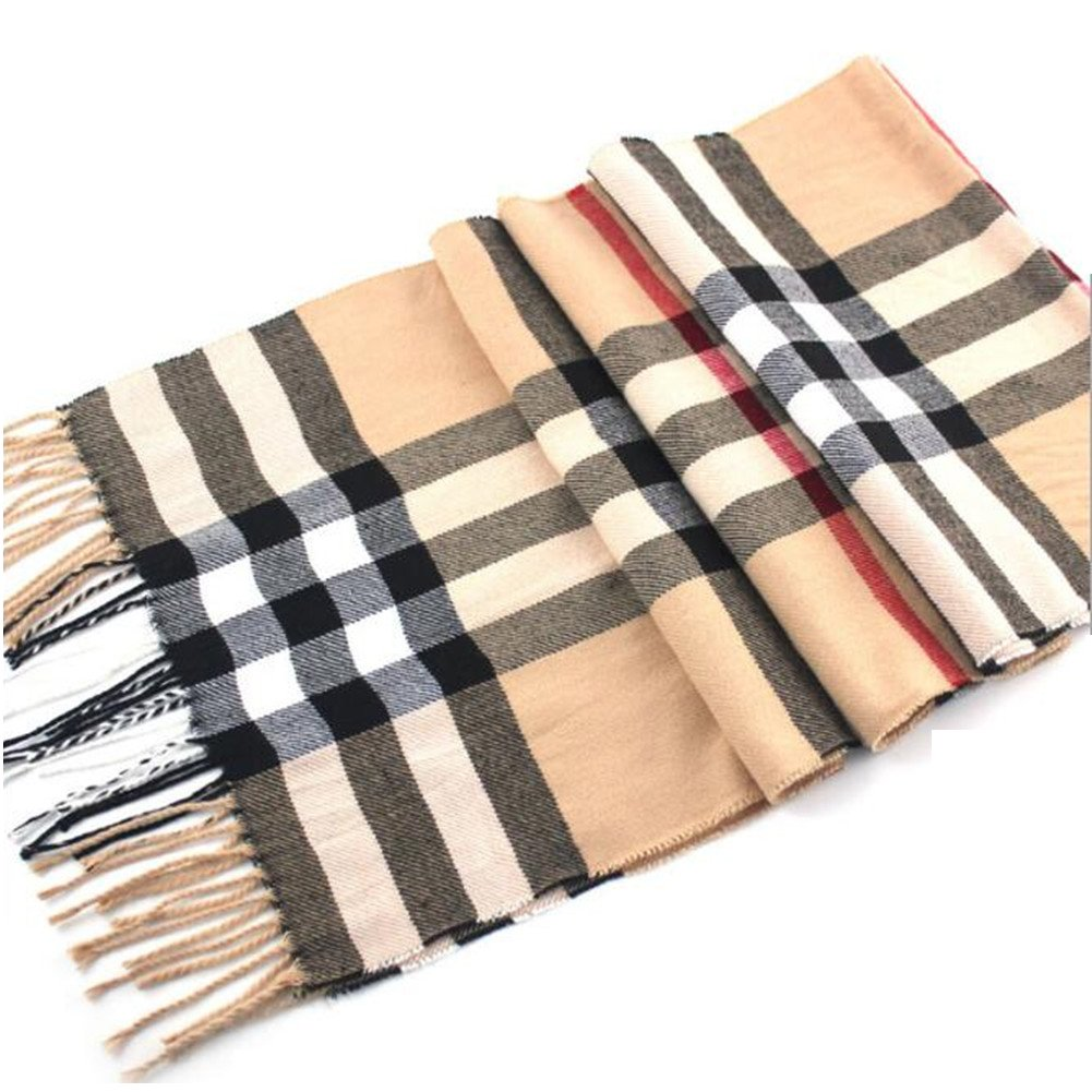 Super Soft Luxurious Classic Cashmere Feel Winter Plaid Scarves