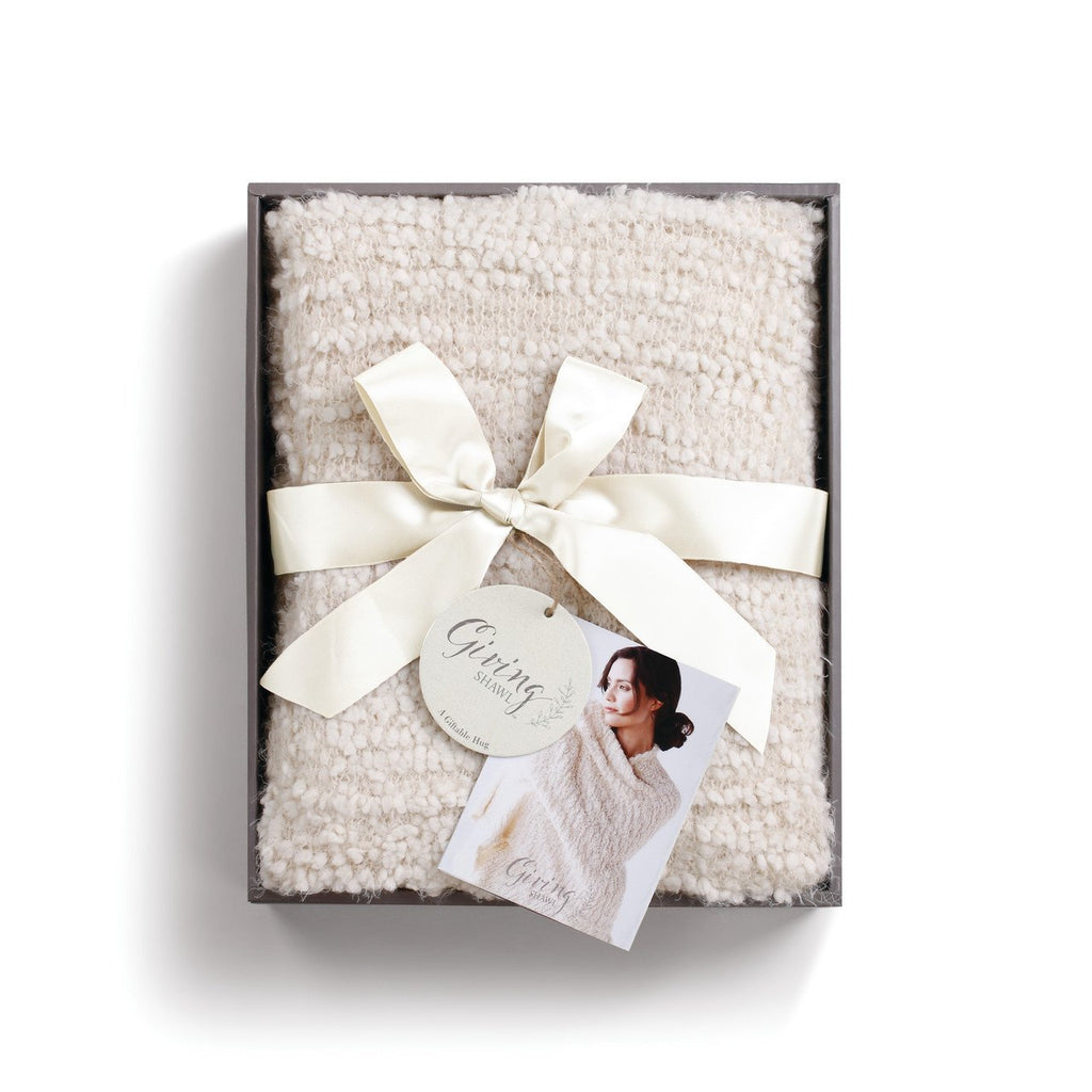 One Size Soft Knit Nylon Giving Shawl Wrap in Gift Box