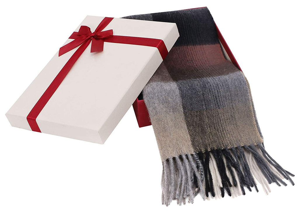 "Winter Cashmere Scarf w/Gift Box, 64"" x 11.5"""