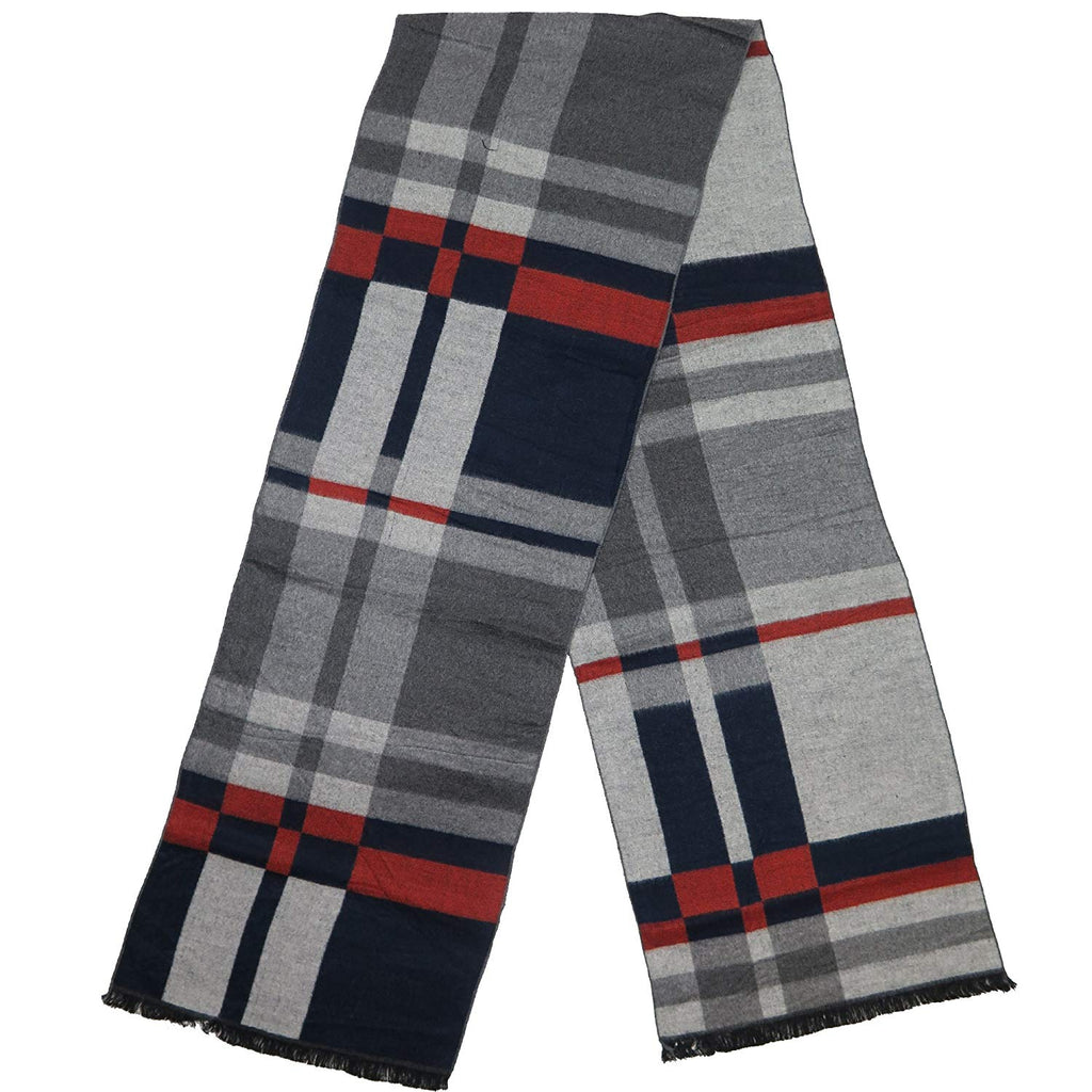 Cashmere-Feel Winter Scarf By Debra Weitzner: 100% Cotton, Soft And Warm Accessory In 6 Prints