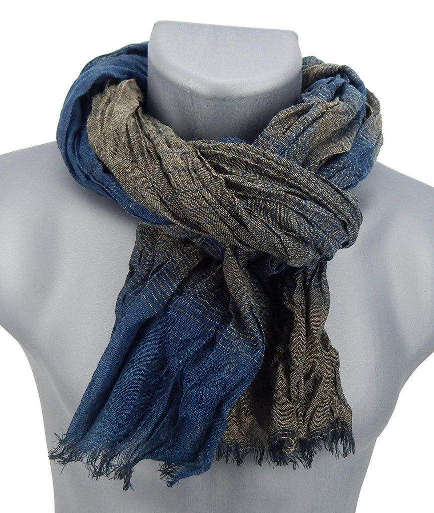 Jonte mens scarf blue brown