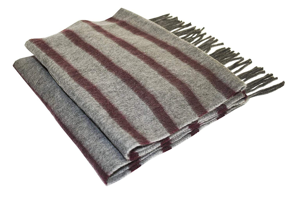 Beene Men's Scarf Striped Cashmere Feel Made in Italy