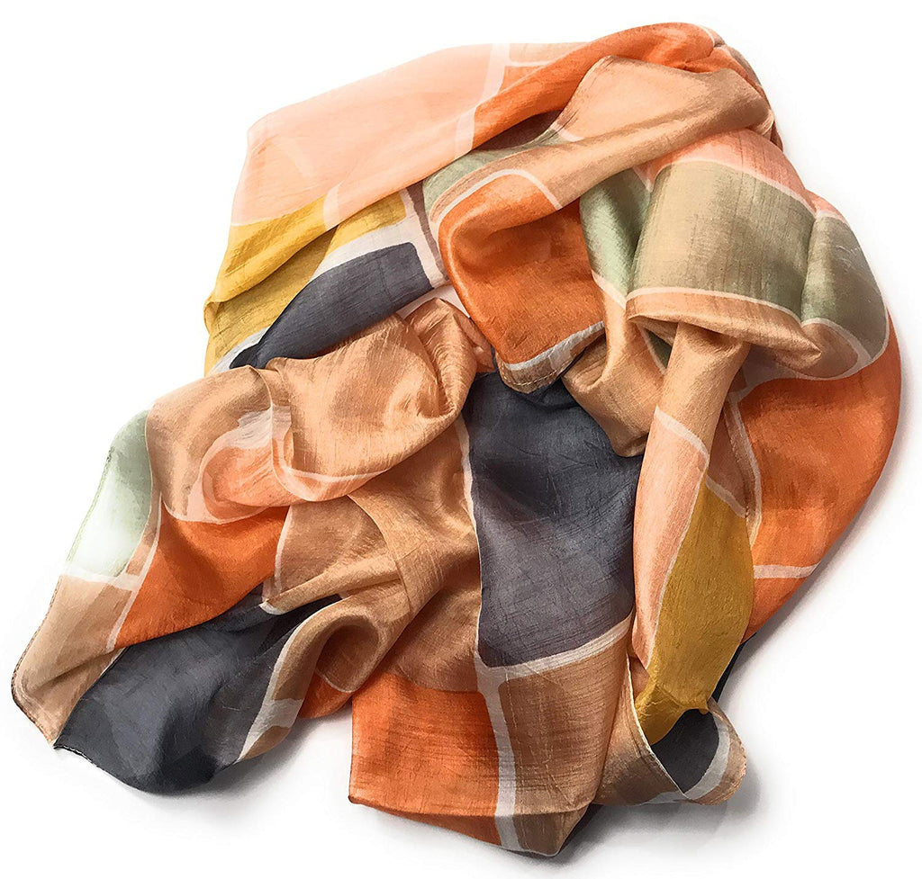 Womens 100% Mulberry Silk Scarf