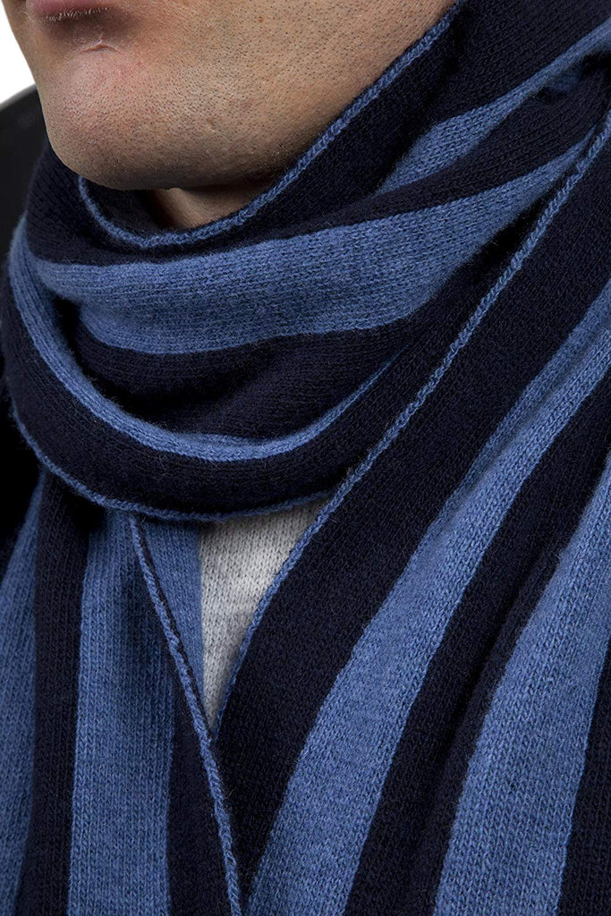 and British Knitwear Men's 100% Lambswool College Stripe Scarf