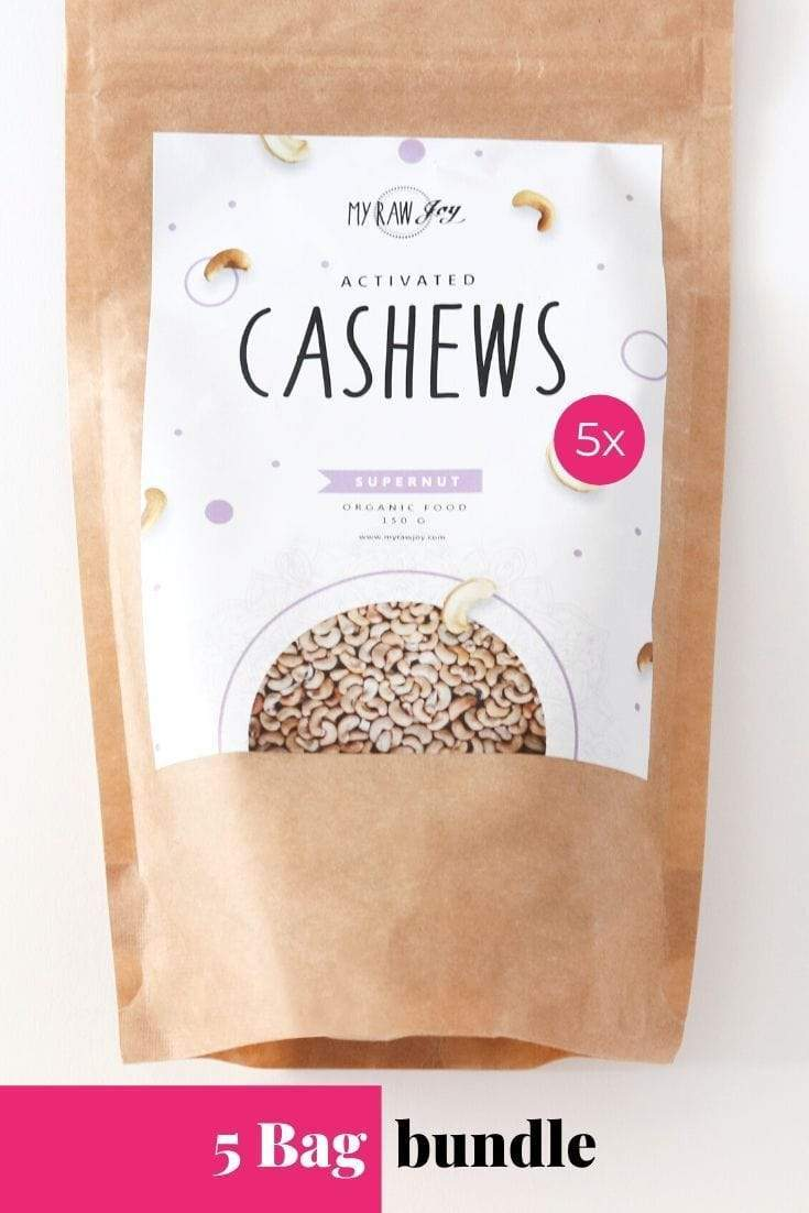 Activated Cashew Supernut Bites SuperNut Bites MyRawJoy 5 bag bundle deal