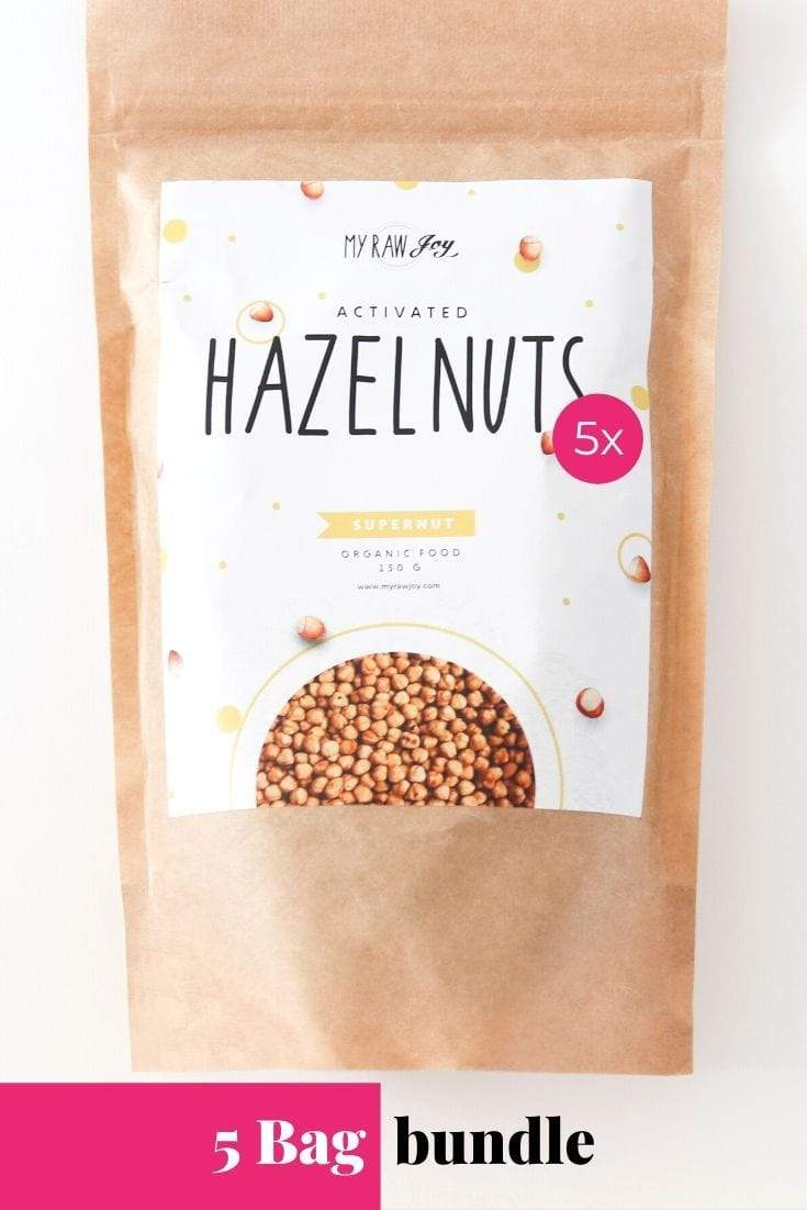 Activated Hazelnut Supernut Bites SuperNut Bites MyRawJoy 5 bag bundle deal
