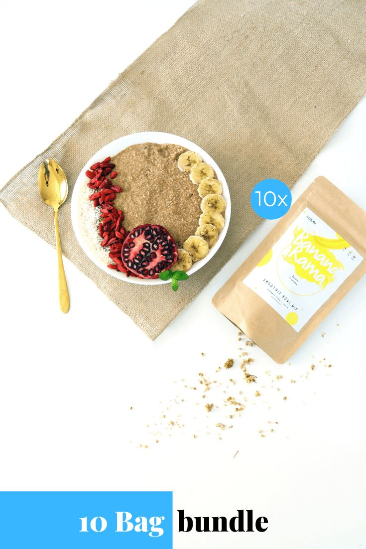 Bananarama Smoothie Bowl + Porridge Topping Smoothie Bowls Mix + Porridge Toppings MyRawJoy 10 Bag Bundle deal | €8.53 per bag