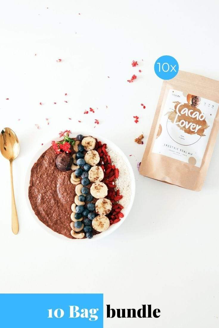 Cacao Lover Smoothie Bowl + Porridge Topping Smoothie Bowls Mix + Porridge Toppings MyRawJoy 10 Bag Bundle deal | €8.53 per bag