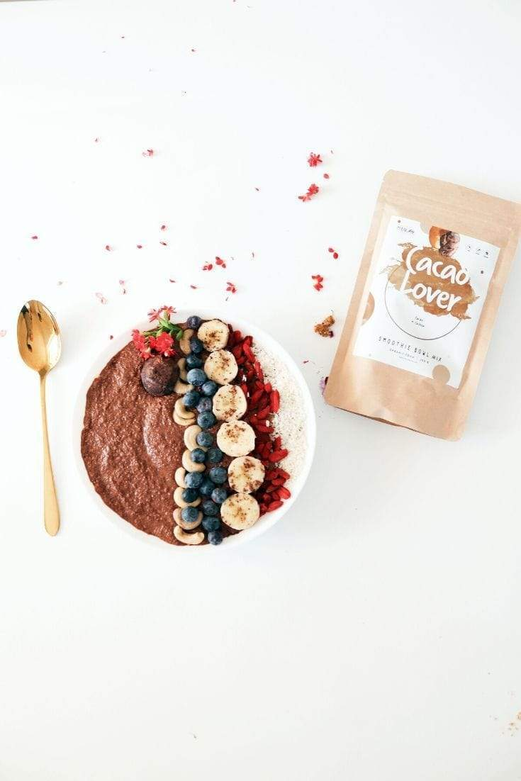 Cacao Lover Smoothie Bowl + Porridge Topping Smoothie Bowls Mix + Porridge Toppings MyRawJoy