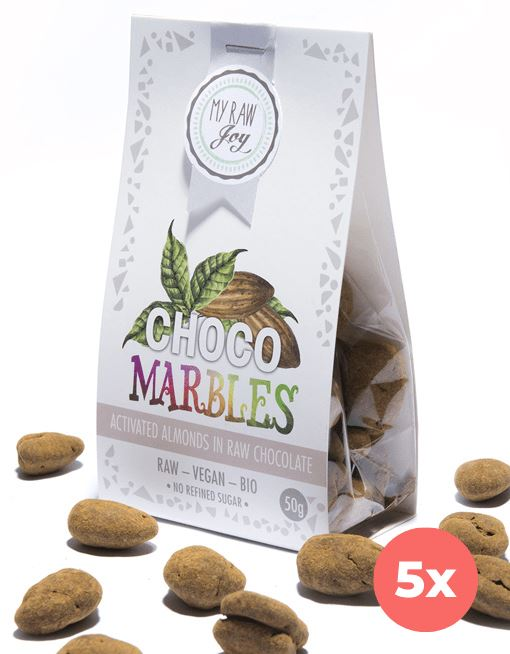 Choco Marbles - Almonds Choco Marbles MyRawJoy 5 Bag Bundle Deal | €2.83 per Bag