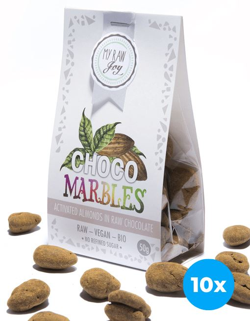 Choco Marbles - Almonds Choco Marbles MyRawJoy 10 Bag Bundle Deal | €2.77 per Bag