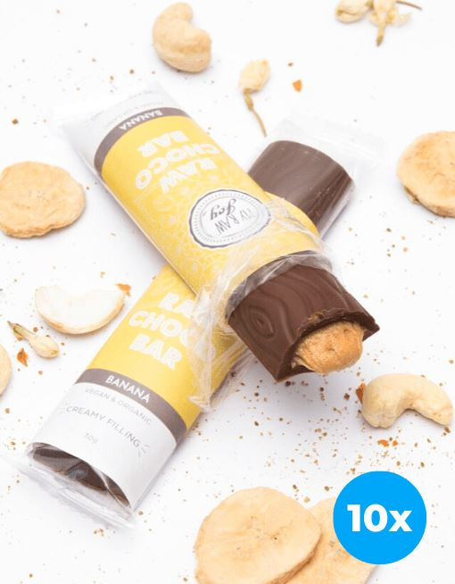 Cream Choco Bar - Banana Cream Cream Bars MyRawJoy 10 Bar Bundle Deal | €2.87 per Bar