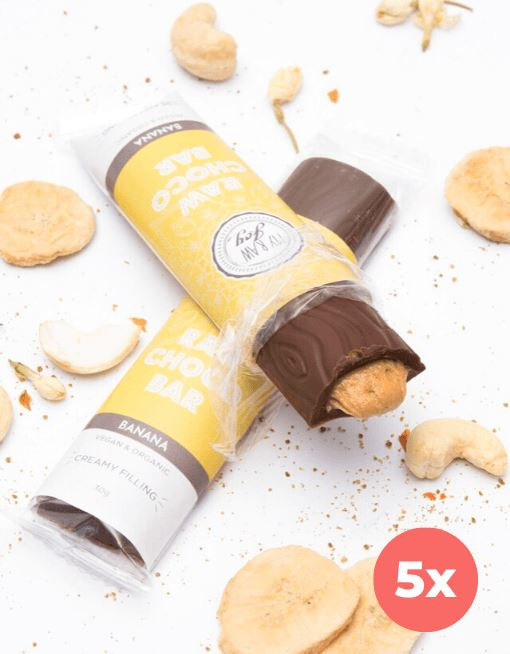 Cream Choco Bar - Banana Cream Cream Bars MyRawJoy 5 Bar Bundle Deal | €2.93 per Bar
