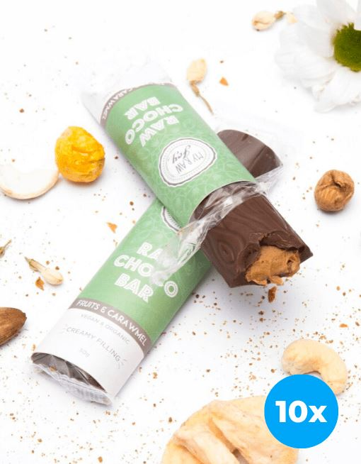 Cream Choco Bar - Fruits & Caramel Cream Cream Bars MyRawJoy 10 Bar Bundle Deal | €2.87 per Bar
