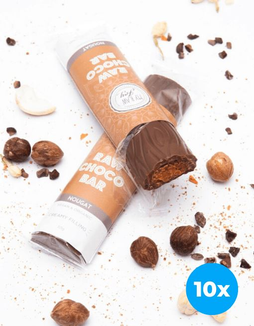 Cream Choco Bar - Nougat Cream Cream Bars MyRawJoy 10 Bar Bundle Deal | €2.87 per Bar