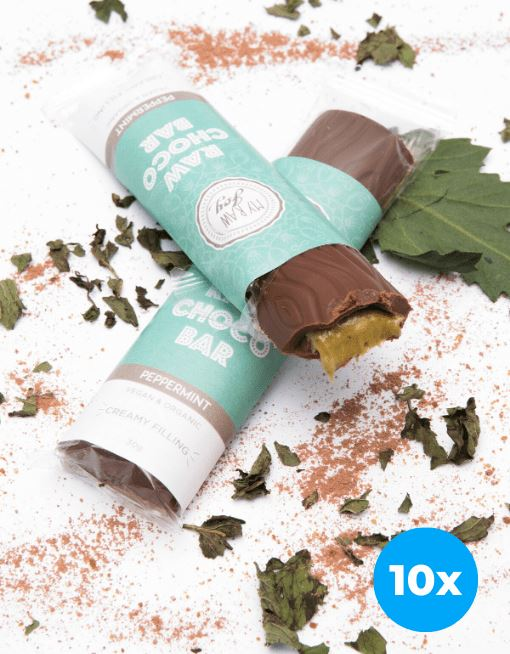 Cream Choco Bar - Peppermint Cream Cream Bars MyRawJoy 10 Bar Bundle Deal | €2.87 per Bar