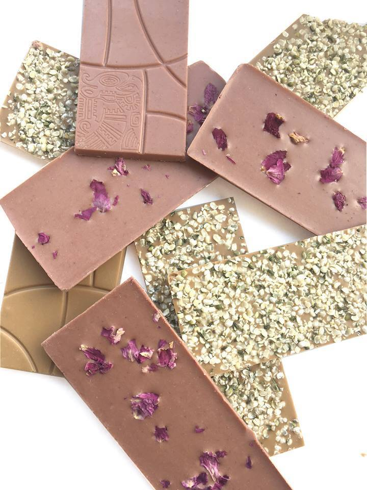 Raw Chocolate- Raspberry & Rose - Small Raw Chocolates MyRawJoy