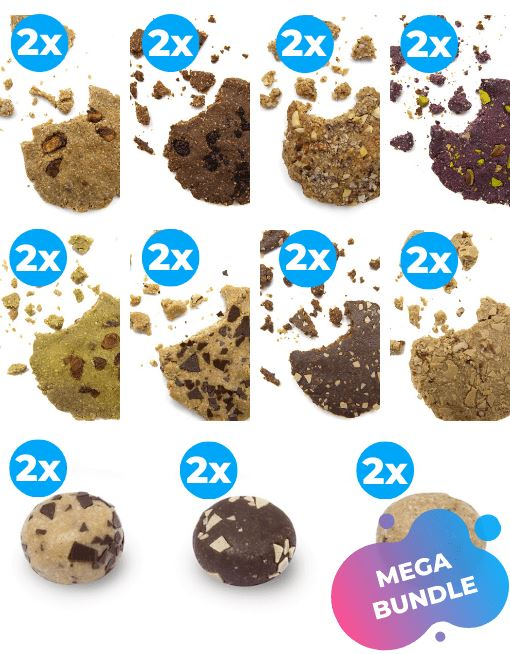 Raw Cookie - Hazelnuts Nutritious Cookies MyRawJoy MEGA MIX | 22 COOKIES - 2 OF EACH FLAVOUR