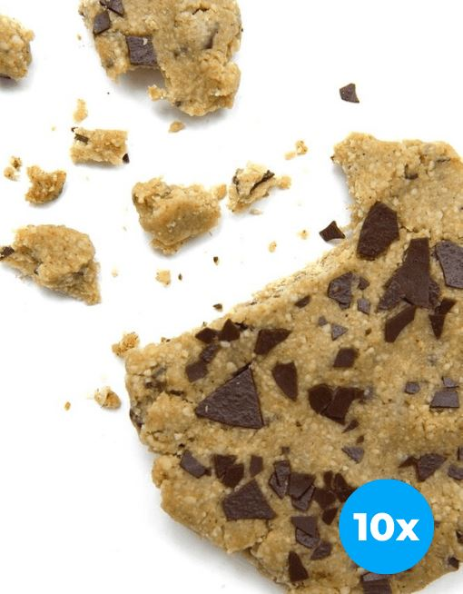 Raw Cookie - Vanilla Chocolate Chip Nutritious Cookies MyRawJoy 10 Cookie Bundle Deal | €2.68 per Cookie