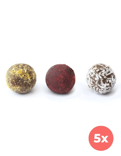 Raw Gourmet TRUFFLES - Strawberry-orange Mix Raw Gourmet Truffles MyRawJoy 5 Bag Bundle Deal | €2.93 per Box