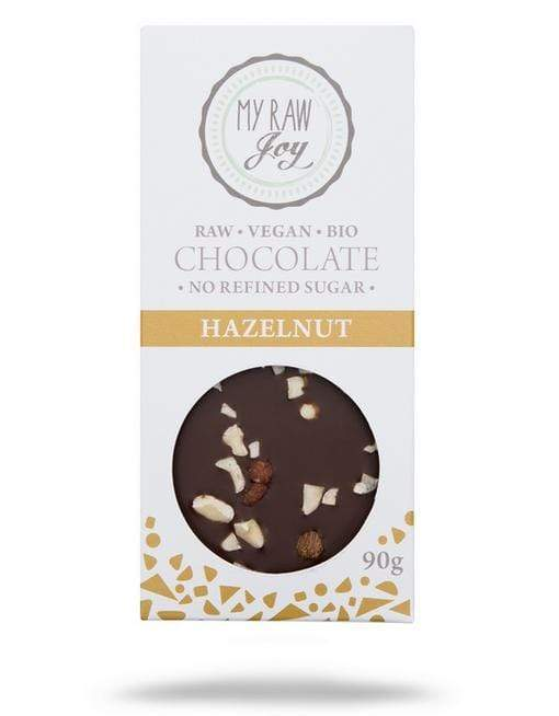 Raw Hazelnut Chocolate - Big Raw Chocolates MyRawJoy