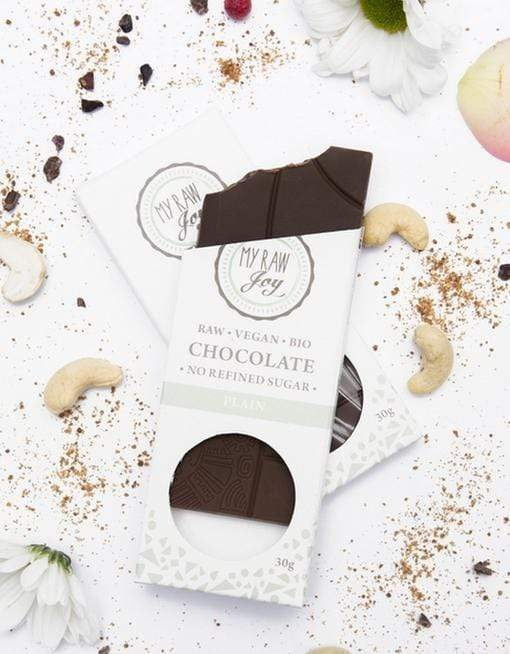 Raw Plain Chocolate - Small Raw Chocolates MyRawJoy 1 Bar