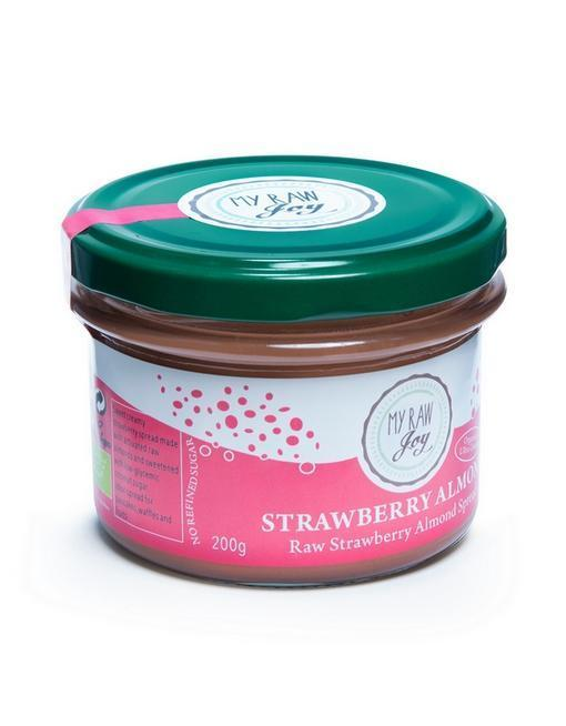 Raw Strawberry Almond Spread Raw spreads & nutbutters MyRawJoy