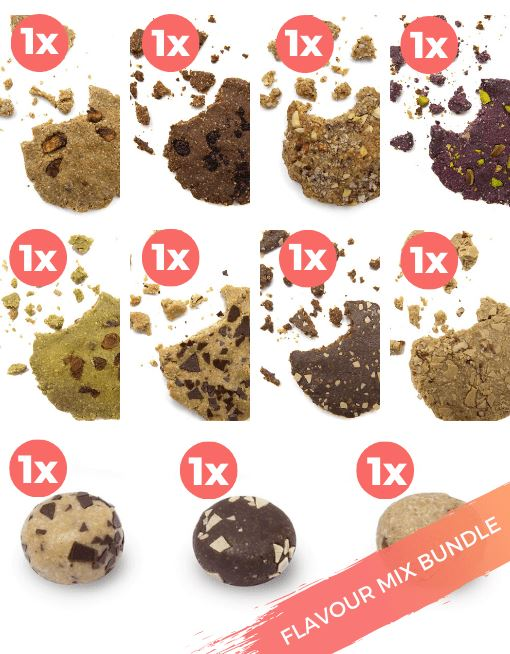 Raw Superfood Cookie - Banana Bread Nutritious Cookies MyRawJoy FLAVOUR MIX BUNDLE | 11 COOKIES - 1 OF EACH FLAVOUR
