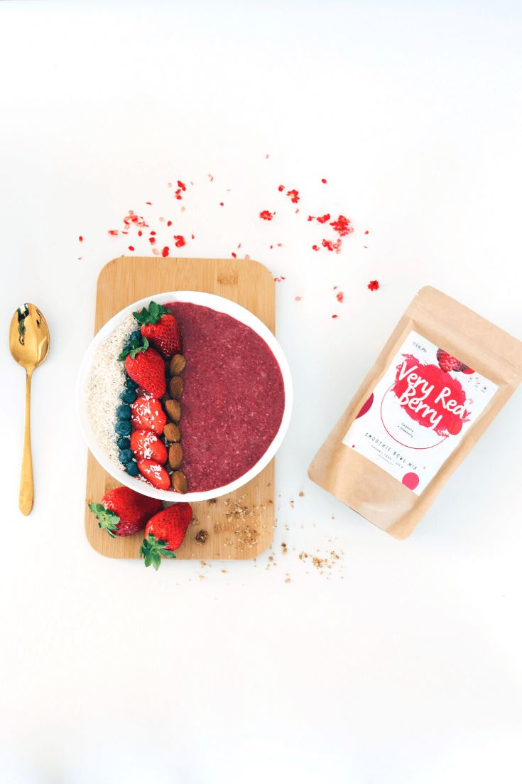 Very Red Berry Smoothie Bowl + Porridge Topping Smoothie Bowls Mix + Porridge Toppings MyRawJoy