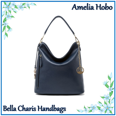 Bella Charis Amelia genuine leather Hobo Bag comes in 3 colours