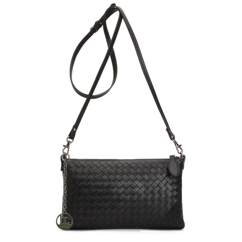 'Bella Charis'  Luna Hand-woven Leather Cross Body Bag (4 colours)