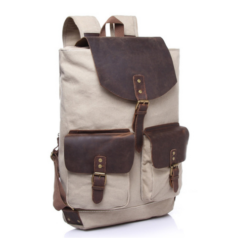 James Canvas & Leather Backpack (3 colours)