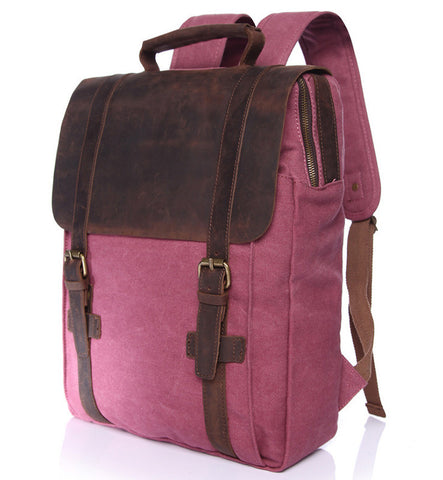 Jill Canvas & Leather Backpack (4 colours)