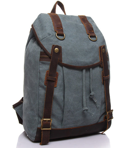 David Canvas & Leather Backpack (3 colours)