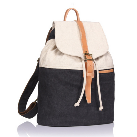 Abbie Canvas & Leather Backpack (3 colours)