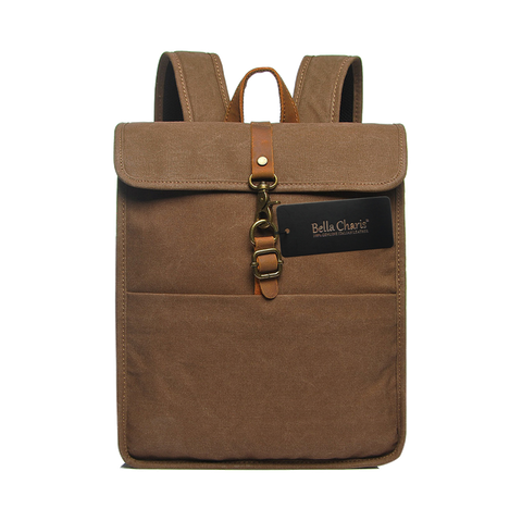 Bella Charis Robbie Canvas & Leather Backpack (4 colours)