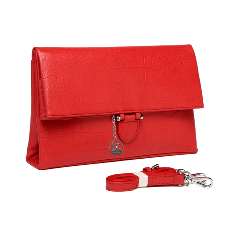 'Bella Charis' Beth Leather Evening/Clutch Bag ( 3 colours)