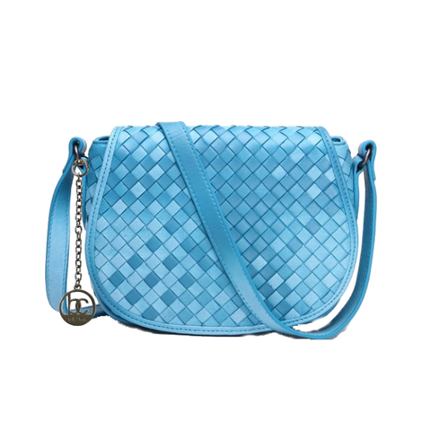 'Bella Charis' Fern Hand-woven Leather Cross Body Bag (9 colours)