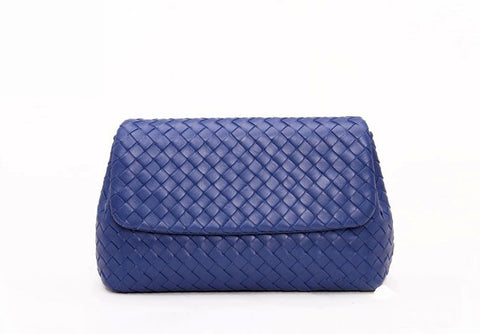 'Bella Charis' Selina Hand-woven Leather Clutch (5 colours)