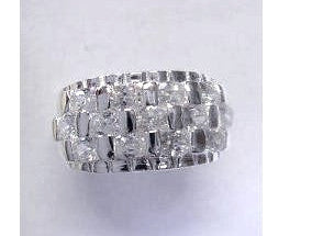 Ella Sterling Silver Ring with Cubic Zirconia ( 2 sizes)