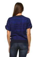 Women's Loose Knit Short Sleeve Top