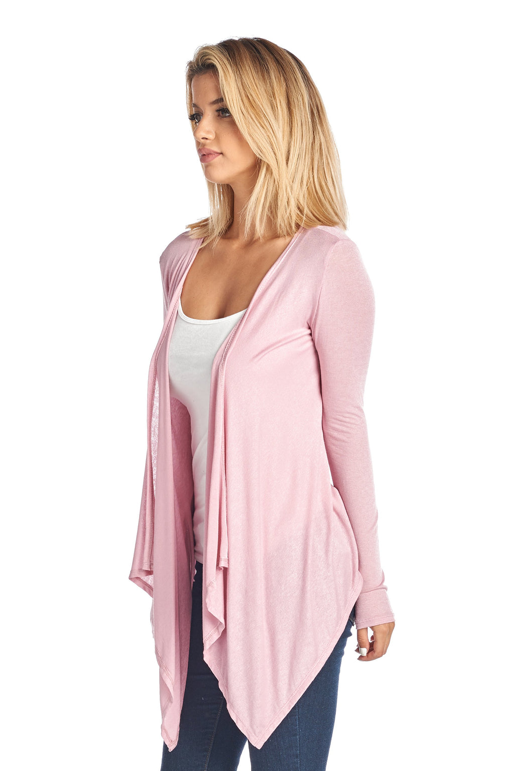 Women's Short Long Sleeve Cardigan With Open Front